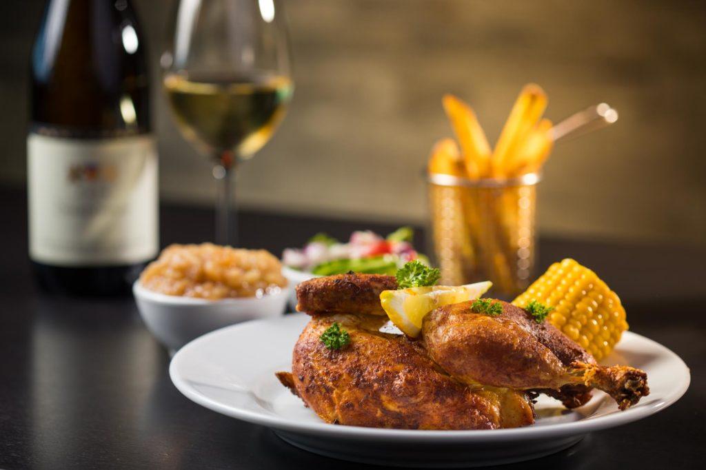 Specialty Gegrilde Kip Grilled Chicken Gegrilltes huhn Brasserie Palace Promenade Scheveningen